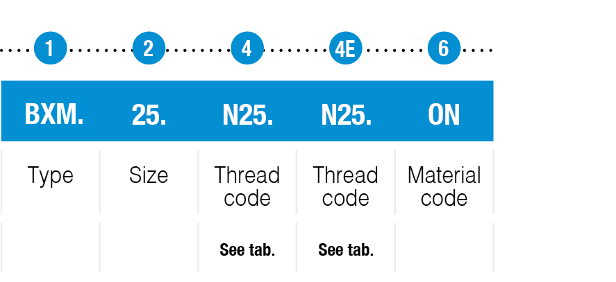 example code BXM type table or